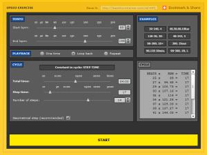 online metronome screenshot