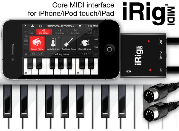 iRig MIDI – Hardware MIDI Interface for iPad and iPhone | OSIRIS GUITAR