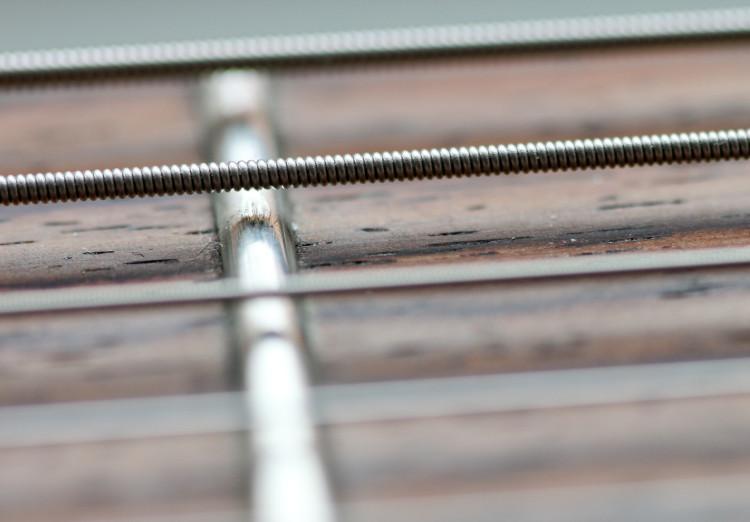Fretboard a-string in focus