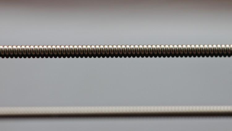 E-string closeup with reflection