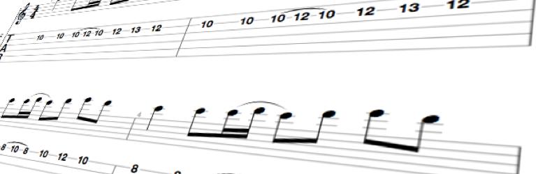 Guitar tabulature