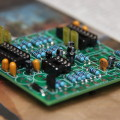 Circuit board with components