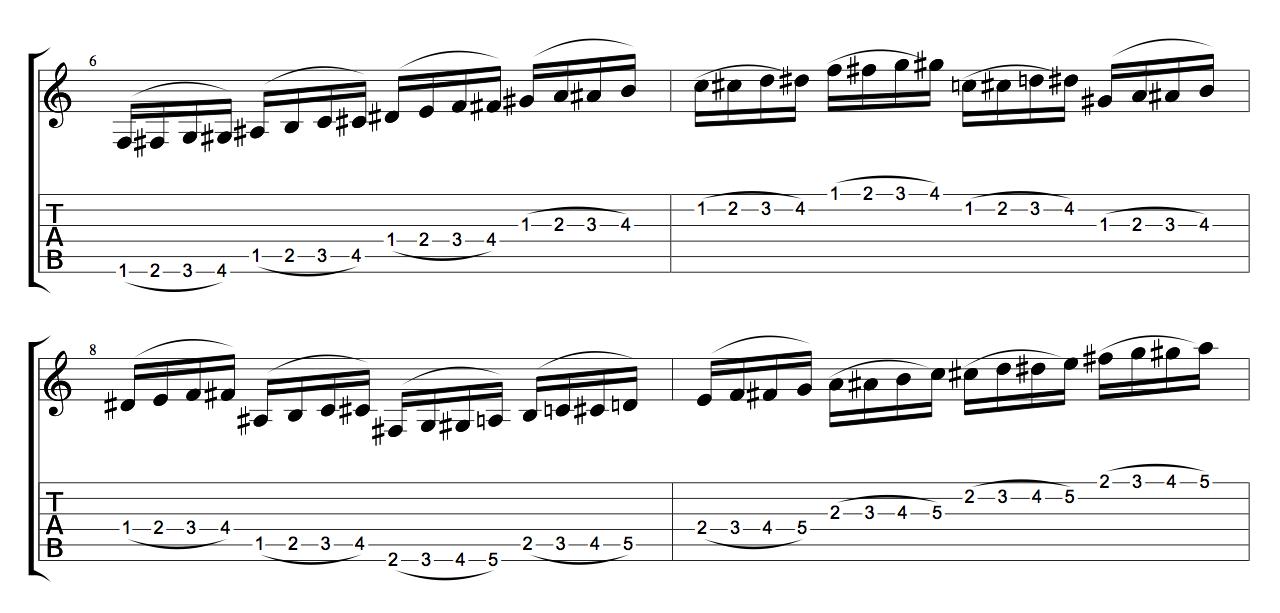 1-2-3-4-legato